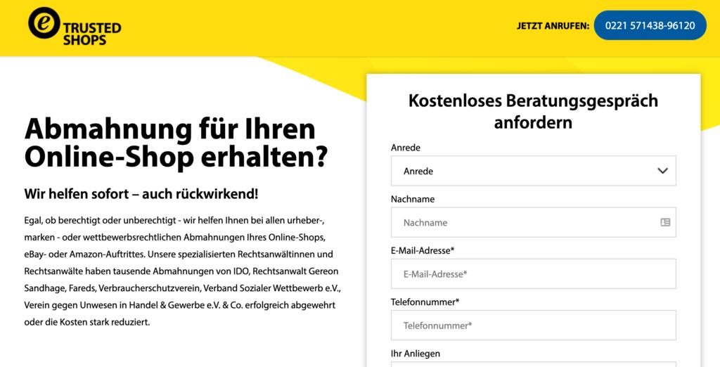 TrustedShops Abmahnungen